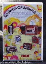RCA Stereo, Turntable and Radio Vintage Advertising - Fridge / Locker Magnet.