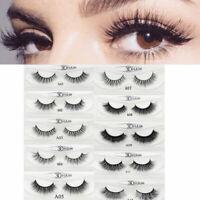 3D Natural False Eyelashes Long Thick Mixed Fake Eye Lashes Makeup Mink- UK NEW