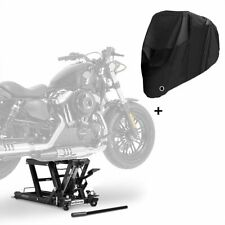 Hebebühne LB + Abdeckplane XXXL für Harley Davidson Fat Boy / 114