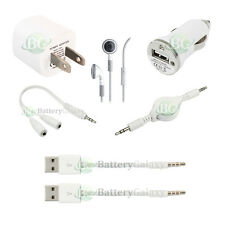 7pc USB Cable+Wall Charger+Headset for Apple iPod Shuffle 3 4 5 6 7 Gen 50+SOLD