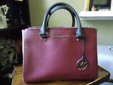 Michael Kors Saffaino Burgundy dune crossbody Bag shoulder Handbags EUC