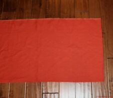 Ralph Lauren Home Deep Orange Glazed Linen Fabric 40 X 21