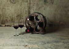 Steam Punk Gears & Wheels Wine Rack Bottle Holder Kitchen Gift Art Metal - New
