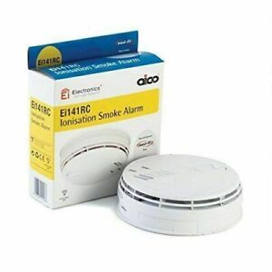 Aico EI141RC Mains Ionisation Smoke Alarm with battery back up-Replace date 2032