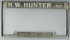 Antelope Valley California HW Hunter Chrysler Mopar Vintage License Plate Frame