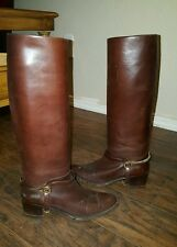 Bruno Magli Tall Leather Riding Boots size 5.5 AA (35) Made In Italy