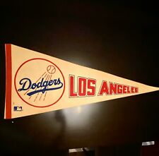 Vintage 1970's Los Angeles Dodgers Pennant Rare Great Condition