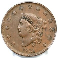 1831 N-2 R-2 PCGS XF 45 Med Letters Matron or Coronet Head Large Cent Coin 1c