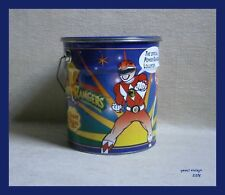 POWER RANGERS Chupa Chups Tin Bucket Used Made in Spain 1995
