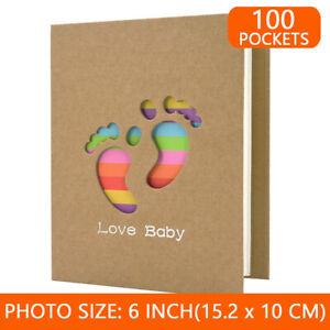 Baby Photo Album Holds 100 Photos Baby Girl Boy Keepsake Birthday Gift 6x4 Inch