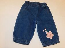 Snugabye Basic Girl's Pants Denim Blue Jeans Size 3-6 Months GUC Pre-owned