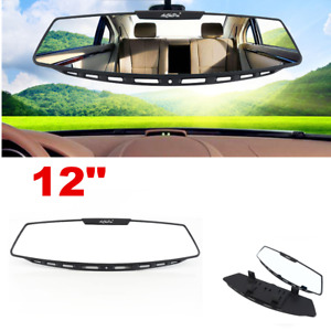 1x 305mm Wide Curve Convex Interior Clip On Panoramic Rear View Mirror Universal