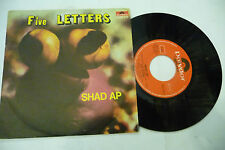 """FIVE LETTERS""""SHAD AP/SILLY DREAMS-disco 45 giri POLYDOR 1977"""" PROG.Italy"""