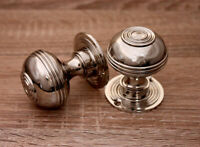 pair Chantilly Mortice Door Knobs White Porcelain 60mm