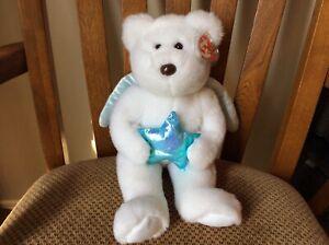 """Ty Beanie Buddy """"STAR"""" the Angel Bear (Blue Star) MWMT 2005"""