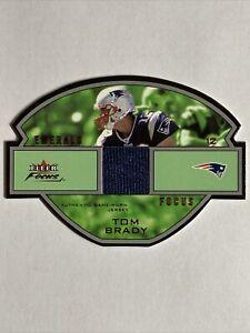 2003 Fleer Focus Emerald JERSEY RELIC /75 #EF-TB Tom Brady New England Patriots