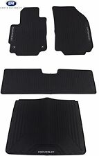 2018 Chevrolet Equinox Premium All Weather Front Rear & Cargo Floor Mats Black