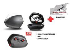 KIT SHAD fijacion + maletas laterales tapa blanca SH36 HONDA CBR500R (16-17)