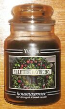 Yankee Candle - 22 oz - YULETIDE BAYBERRY - Black Band - RARE AND HARD TO FIND!!
