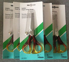 """12 X HIGH QUALITY SAMEX SUPER HARDENED STAINLESS STEEL SEWING SCISSORS 5.5"""""""