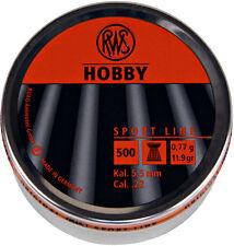 RWS HOBBY Flathead .22 Air Rifle Gun Pellets 500 Tin Airgun Target Plinking
