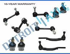 Trailblazer Envoy 10pc Front Upper Lower Ball Joint Tie Rod Sway Bar Suspension