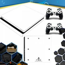 Vinile White Playstation 4 Ps4 Slim Skin Sticker Decal Console + Controller