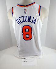2018-19 New York Knicks Mario Hezonja #8 Game Used White Jersey vs CHI 4919