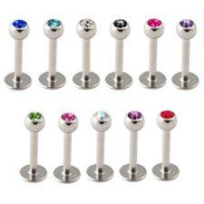 11er SET Labret Tragus Piercing Stab 6 oder 8 mm mit Kugel 3 mm | Größe wählbar