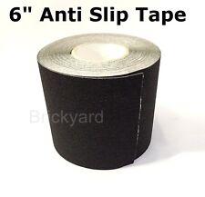 "6"" x 50' BLACK Roll Safety Non Skid Tape Anti Slip Tape Sticker Grip Safe Grit"