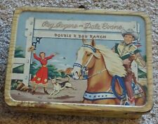 Roy Rogers and Dale Evans Lunch Box Double R Bar Ranch metal handle