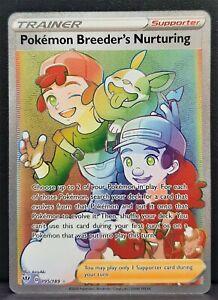Pokemon Card Pokemon Breeder's Nurturing 195/189 Hyper Rare Darkness Ablaze SWSH