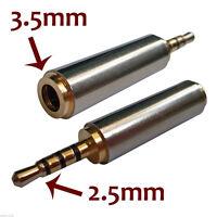 2.5mm Mann zu 3.5mm weiblicher Stereomikrofon-Kopfhörer-JackAdapter-KonverteDBSD