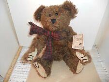 "16"" Boyds Jackson R Bearington Brown Mohair Jointed Retired Bear #590021-05"
