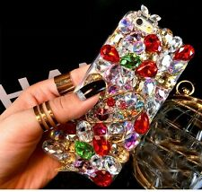 NEW COOL DIAMOND RHINESTONE BLING DIAMANTE CASE COVER SAMSUNG S7 IPHONE 6 6S 7