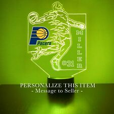 Indiana Pacers Basketball LED Night Light Lamp Personalize FREE 16 Colors Remote