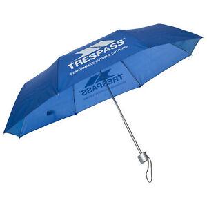 Trespass Black Compact Umbrella Windproof Open & Close