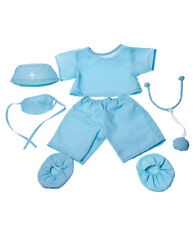 """Doctor surgeon scrubs outfit teddy bear clothes to fit 15"""" build a bear plush"""