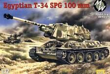 Military Wheels T-34-100 SPG Egypt Esercito 1:72 Modello Kit Egitto Serbatoio