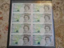 Debden c121 uncut minisheet 1996 Kentfield B364 £5 notes x 8 only 5000 issued.