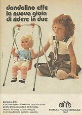 X9726 Bambole EFFE - Dondolino - Pubblicità 1975 - Advertising
