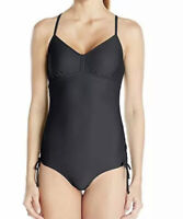 NWT prAna Women's Moorea One Piece Swimsuit, Black Size S