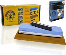 New listing Premium Whetstone Knife Sharpening Stone Kit 2 Sided Water stone 1000 6000 Grit