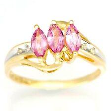 Yellow Sapphire Three-Stone Fine Rings