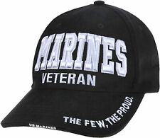US MARINES Veteran Ballcap Baseball Cap Military Black Hat Lo Profile Rothco3956