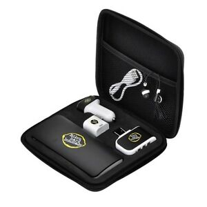 Travel Set Triple USB Powebank-Car-AC Charger, Bluetooth, Ear Buds & Micro Cable