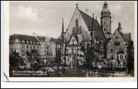 Leipzig Sachsen Postkarte 1942 gelaufen Partie an der Thomas Kirche Thomasring
