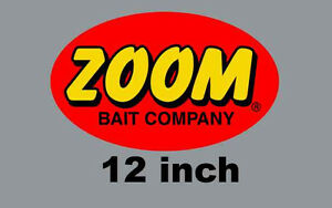 """12"""" Zoom Fishing Boat Tackle Box Lure Quality Decal Sticker"""
