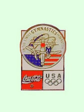 1992 Barcelona Olympics Us Gymnastics Federation Coca Cola Sponsorship Lapel Pin