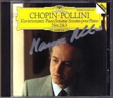 Maurizio POLLINI Signiert CHOPIN Piano Sonata No.2 & 3 DG CD 1985 Klaviersonaten